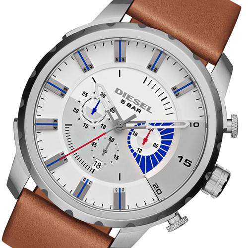 ディーゼル DIESEL ストロングホールド クロノ メンズ 腕時計 DZ4357 ブラウン