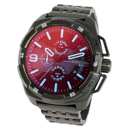 ディーゼル ヘビーウェイト クオーツ クロノ メンズ 腕時計 DZ4395 ブラック