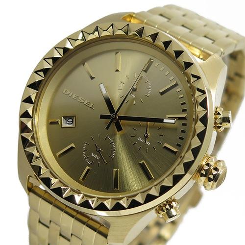 ディーゼル DIESEL クオーツ クロノ メンズ 腕時計 DZ5486 ゴールド