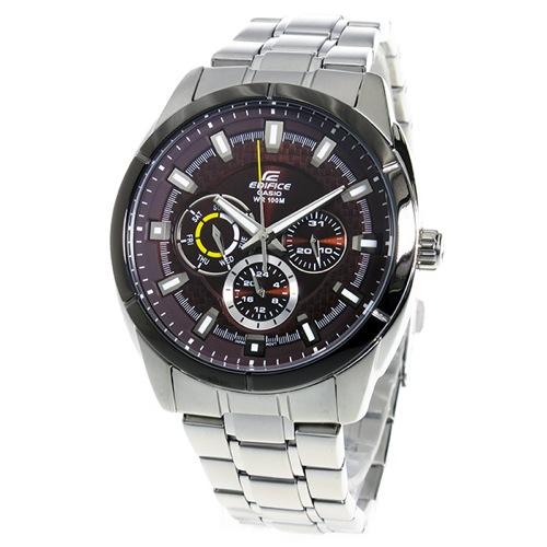カシオ エディフィス クオーツ メンズ 腕時計 EF-327D-5AV ブラウン