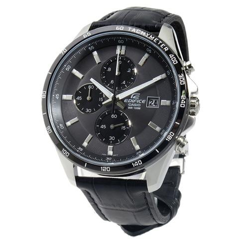 カシオ エディフィス クロノ クオーツ メンズ 腕時計 EFR-512L-8AV ブラック