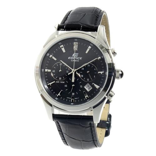 カシオ エディフィス クロノ クオーツ メンズ 腕時計 EFR-517L-1AV ブラック