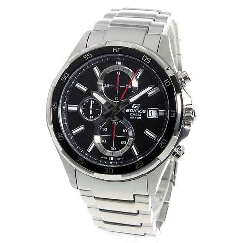 カシオ エディフィス クロノ クオーツ メンズ 腕時計 EFR-531D-1AV ブラック