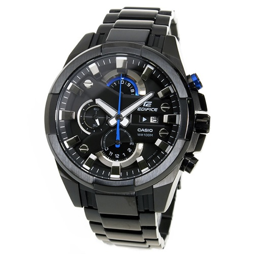 カシオ エディフィス クロノ クオーツ メンズ 腕時計 EFR-540BK-1AV ブラック