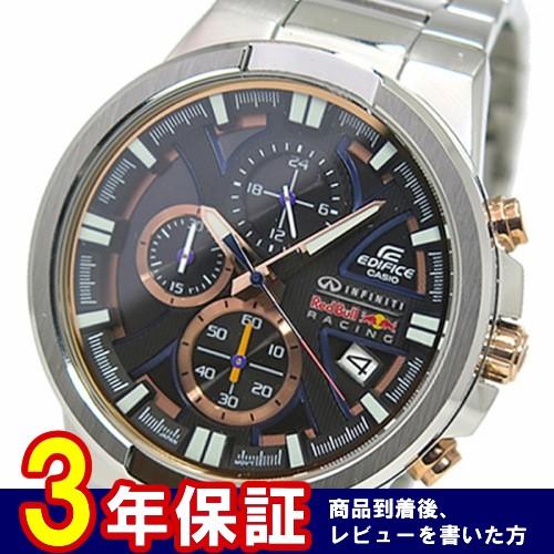 カシオ エディフィス レッドブル レーシング クロノ 腕時計 EFR-544RB-1A ブラック
