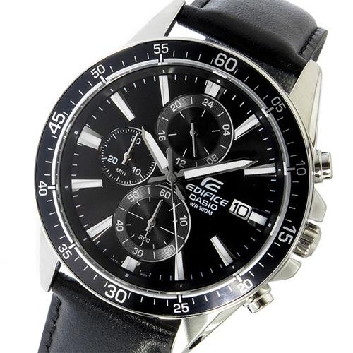 カシオ CASIO エディフィス EDIFICE クロノ クオーツ メンズ 腕時計 EFR-546L-1AV ブラック