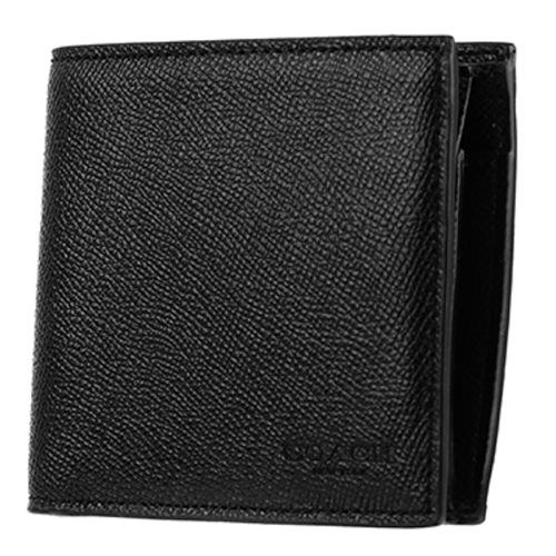 new products c2d8d fe72c 送料無料】コーチ COACH 二つ折り 短財布 メンズ F59111-BLK-1 ...