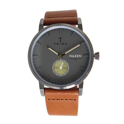 トリワ クオーツ ユニセックス 腕時計 FALKEN FAST102-CL010213 グレー / ブラウン></a><p class=blog_products_name