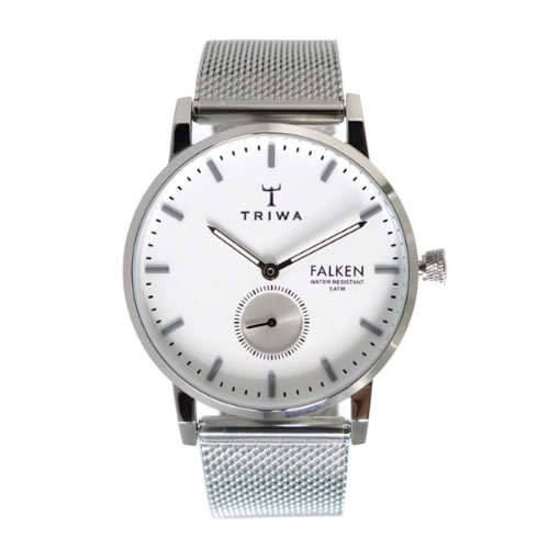 トリワ クオーツ ユニセックス 腕時計 FALKEN FAST103-ME021212 ホワイト / シルバー></a><p class=blog_products_name
