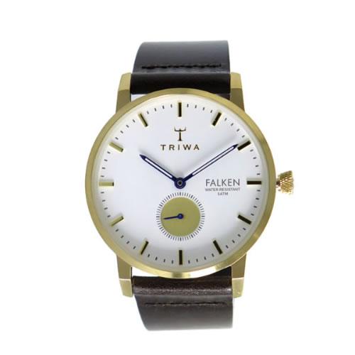 トリワ クオーツ ユニセックス 腕時計 FALKEN FAST110-CL010413 ホワイト / ダークブラウン></a><p class=blog_products_name