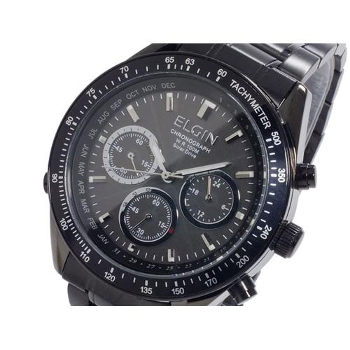 エルジン ELGIN 電波 ソーラー メンズ クロノ 腕時計 FK1361B-BP