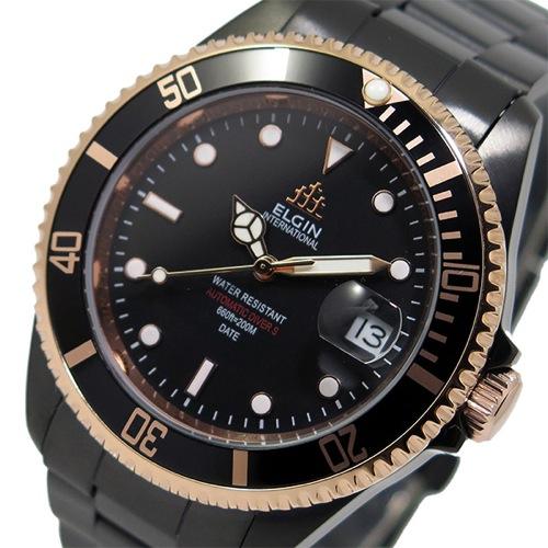 エルジン ELGIN 自動巻き メンズ 腕時計 FK1405B-B ブラック