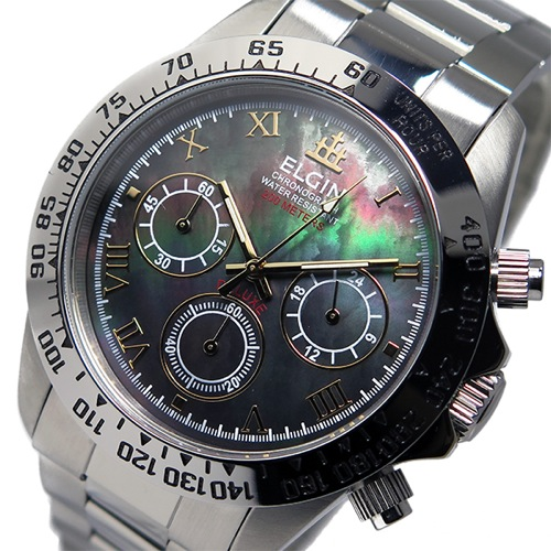 3f1cf8c1f2 送料無料】エルジン ELGIN クロノ クオーツ メンズ 腕時計 FK1406S-B ...