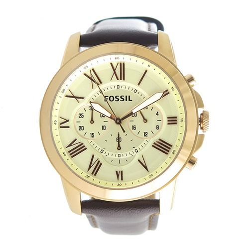 フォッシル クオーツ メンズ 腕時計 FS4991 アイボリー></a><p class=blog_products_name