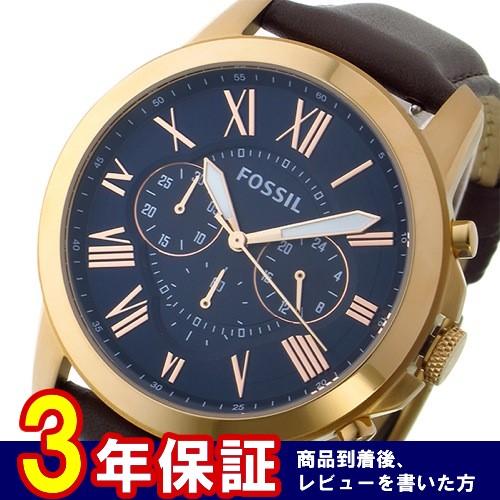 フォッシル クロノ クオーツ メンズ 腕時計 FS5068 ネイビー></a><p class=blog_products_name