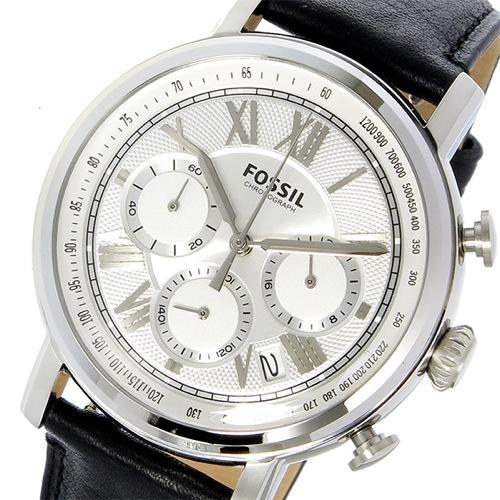 フォッシル ブキャナン BUCHANAN クロノ クオーツ メンズ 腕時計 FS5102 ホワイトシルバー