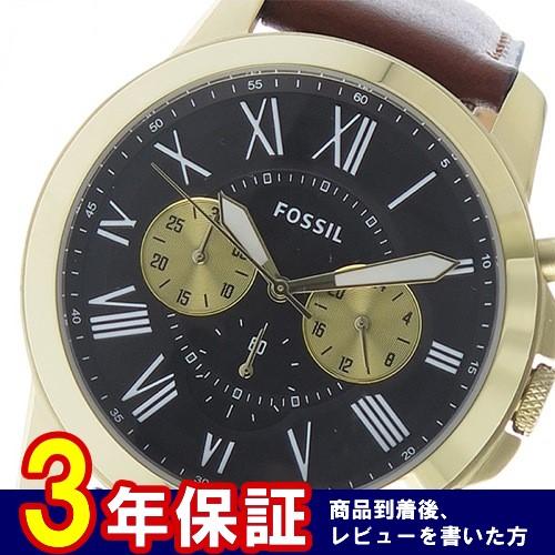 フォッシル クオーツ クロノ メンズ 腕時計 FS5297 ダークグレー
