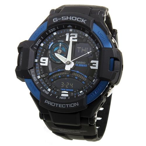 カシオ Gショック スカイコックピット クオーツ メンズ 腕時計 GA-1000-2B ブラック