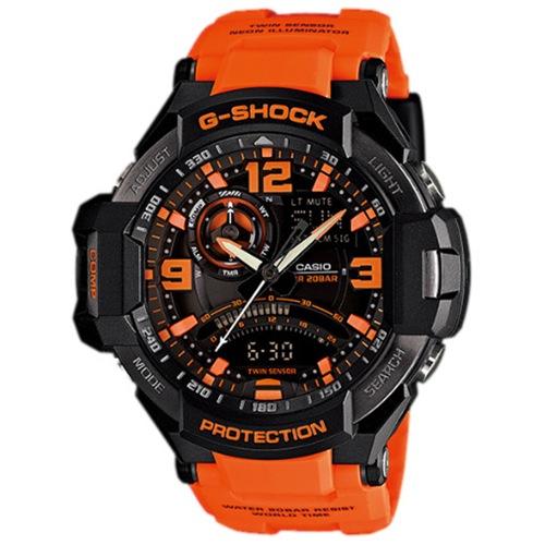 カシオ Gショック スカイコックピット メンズ クオーツ 腕時計 GA-1000-4A オレンジ