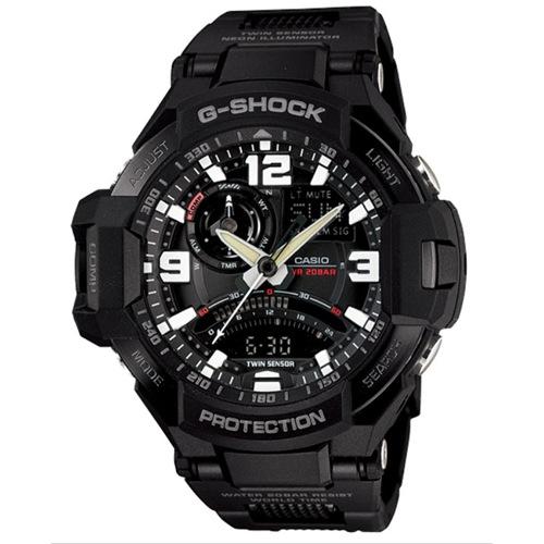 カシオ Gショック スカイコックピット メンズ 腕時計 GA-1000FC-1A ブラック
