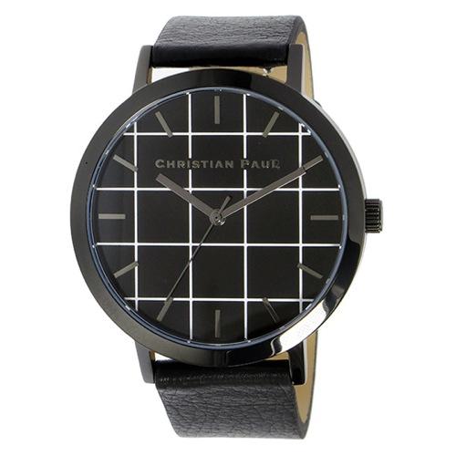 クリスチャンポール グリッド THE STRAND ユニセックス 腕時計 GR-01 ブラック
