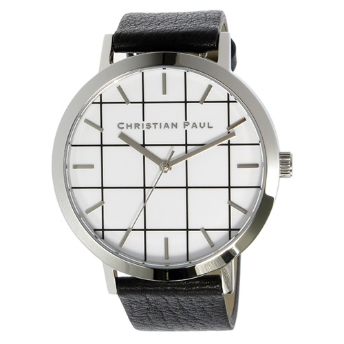 クリスチャンポール グリッド ELWOOD ユニセックス 腕時計 GR-05 ホワイト></a><p class=blog_products_name