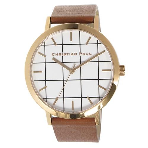 クリスチャンポール グリッド AVALON ユニセックス 腕時計 GR-06 ホワイト