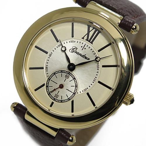 グランドール GRANDEUR クオーツ メンズ 腕時計 GSX057G1 ゴールド
