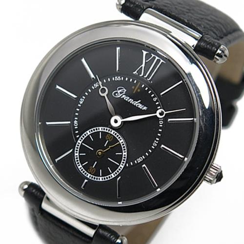 グランドール GRANDEUR クオーツ メンズ 腕時計 GSX057W2 ブラック
