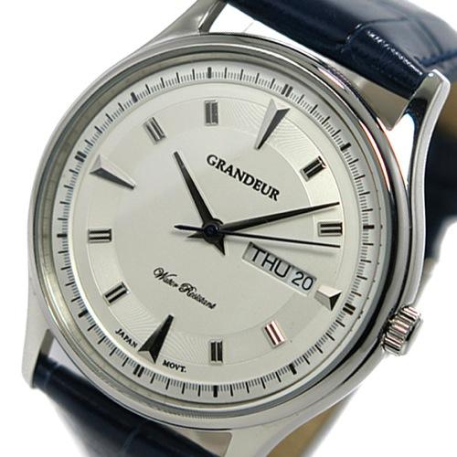 グランドール GRANDEUR クオーツ メンズ 腕時計 GSX058M1 ホワイト