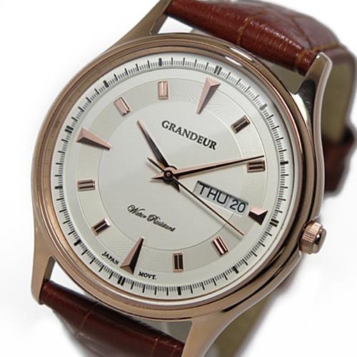 グランドール GRANDEUR クオーツ メンズ 腕時計 GSX058M3 ピンクゴールド