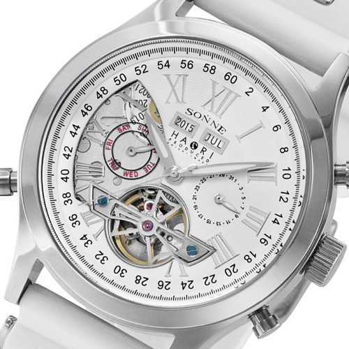 ゾンネ SONNE ハオリ HAORI 自動巻き メンズ 腕時計 H003SSWH ホワイト