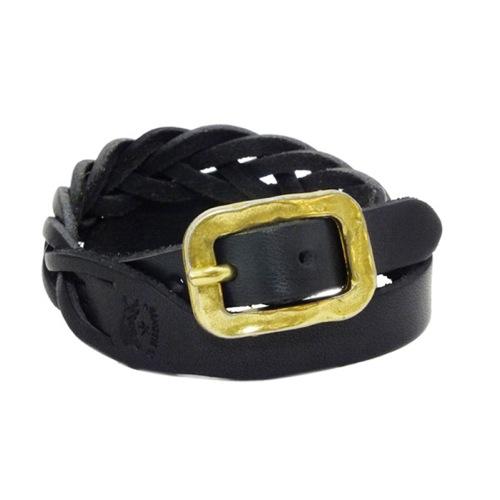 イルビゾンテ IL BISONTE メンズ レザー ブレスレット H0505.P135 ブラック