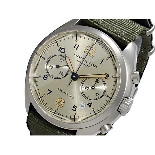 ハミルトン HAMILTON カーキ パイロット パイオニア クロノグラフ 自動巻き メンズ 腕時計 H76456955