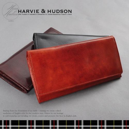 ハービーアンドハドソン 長財布 メンズ HA-2001-LBR ライトブラウン