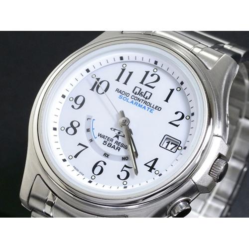 シチズン CITIZEN キューアンドキュー Q&Q 電波 ソーラー メンズ 腕時計 HG00-204