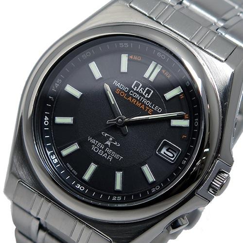 シチズン キューアンドキュー ソーラー 電波 メンズ 腕時計 HG08-202 ブラック