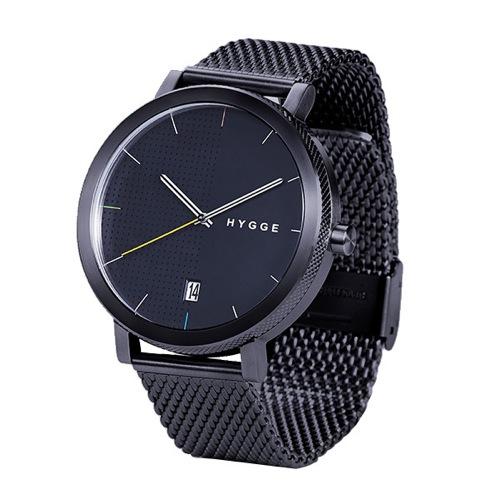 ピーオーエス POS ヒュッゲ 2203 クオーツ メンズ 腕時計 MSM2203BC(BK) ブラック