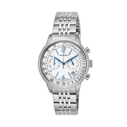 ゾンネ SONNE ヒストリカルコレクション クロノ クオーツ メンズ 腕時計 HI002SV シルバー