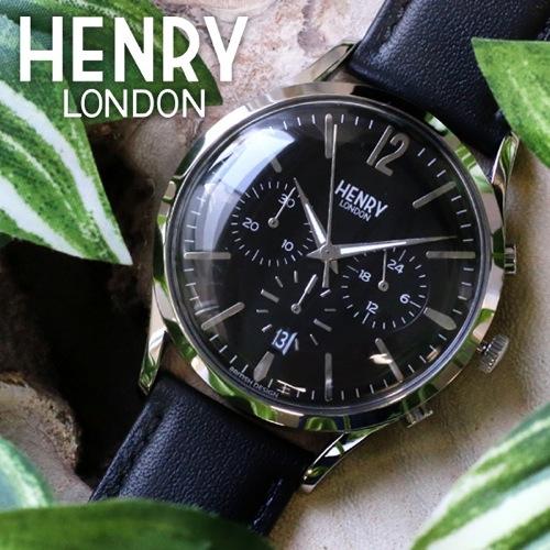 ヘンリーロンドン エッジウェア 41mm ユニセックス HL41-CS-0023 ブラック