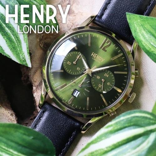 ヘンリーロンドン チズウィック 41mm ユニセックス HL41-CS-0106 モスグリーン/ブラック
