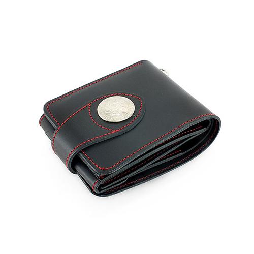イギンボトム IGGINBOTTOM 国産高級ヌメ革 二つ折り メンズ 短財布 IGO-104-BK ブラック