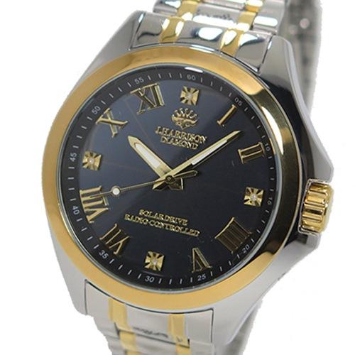 ジョンハリソン ソーラー 電波時計 メンズ 腕時計 JH-086GB ガンメタ/ゴールド
