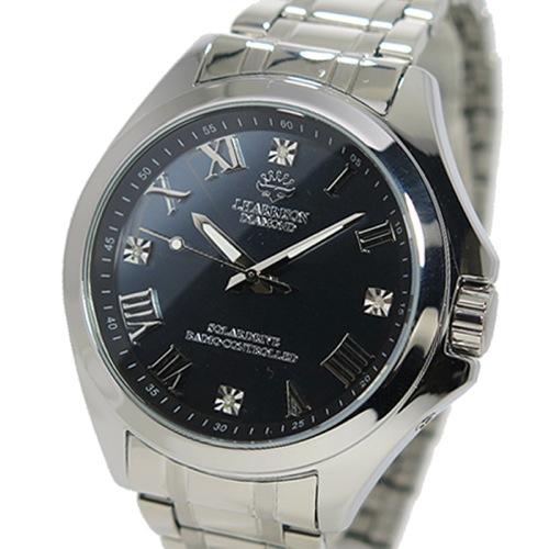 ジョンハリソン ソーラー 電波時計 メンズ 腕時計 JH-086SB ガンメタ/シルバー