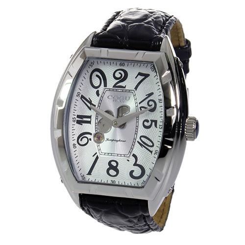 コグ COGU ジャンピングアワー 自動巻き メンズ 腕時計 JH7-WH ホワイト