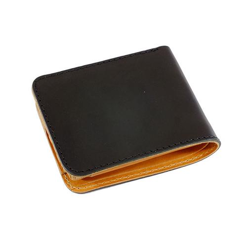 ファイナル FINAL 栃木レザー 二つ折り短財布 JP-2000BK ブラック