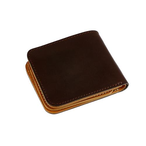ファイナル FINAL 栃木レザー 二つ折り短財布 JP-2000DBR ブラウン