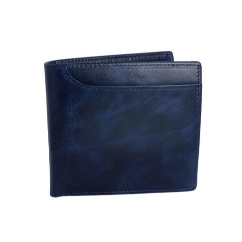 ジョンハリソン JOHN HARRISON 二つ折り 短財布 JWT-017-BLUE ブルー