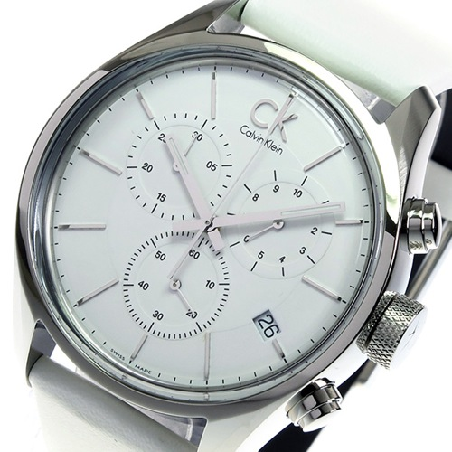 カルバン クライン CALVIN KLEIN クロノ クオーツ メンズ 腕時計 K2H27101 ホワイト