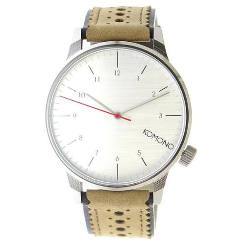 コモノ クオーツ ユニセックス 腕時計 KOM-W2011 シルバー></a><p class=blog_products_name